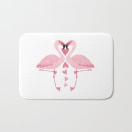 Flamingo Love. Bath Mat