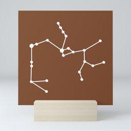 Sagittarius (White & Brown) Mini Art Print