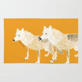 Totem wolf (Canis lupus nubilus (pair) (c) 2017 Rug
