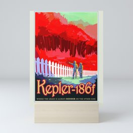 Kepler-186f - NASA Space Travel Poster (Alt) Mini Art Print