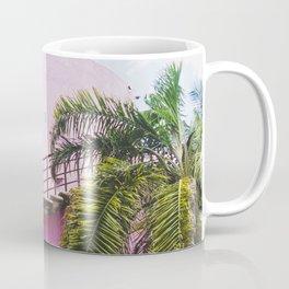 Pink and Palms in Cozumel Coffee Mug