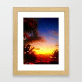 Caribbean Sunset, St. Maarten Framed Art Print