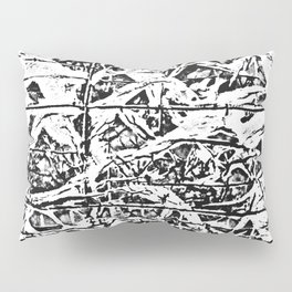Organic abstract Pillow Sham