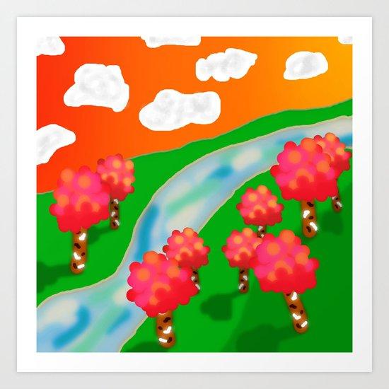 Wonder Land Art Print
