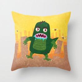 Monsterzilla Throw Pillow