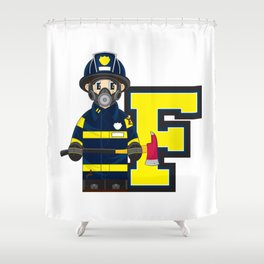 F is for Fireman Shower Curtain