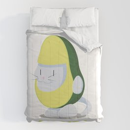 Delicious Avogato - Perfect For Cat & Avocado Lovers Comforters