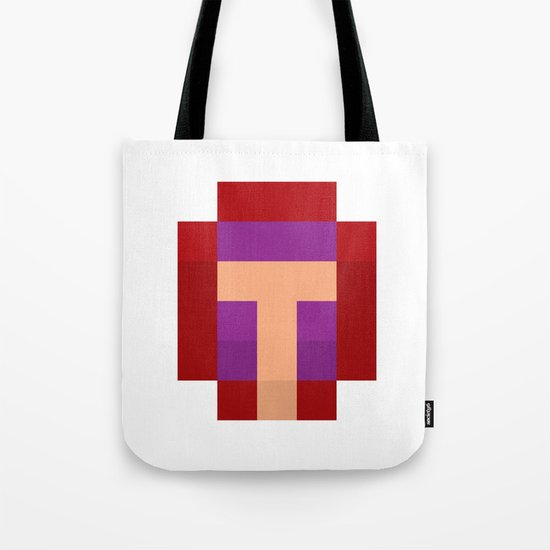 hero pixel purple red Tote Bag