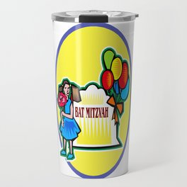 Bat Mitzvah party girl  Travel Mug