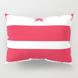 Flag of the District of Columbia - Washington D.C authentic version Pillow Sham