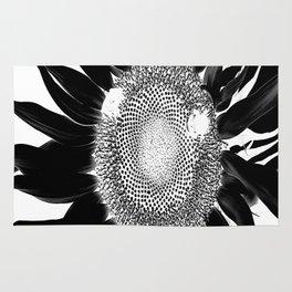 sunflower black and white Rug