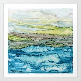 Waves and Hills Art Print