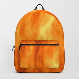 Red flame burning Backpack