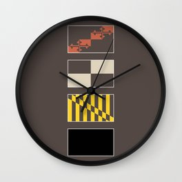Maryland State Flag Deconstructed Wall Clock