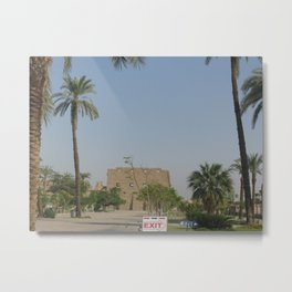 Temple of Karnak at Egypt, no. 2 Metal Print