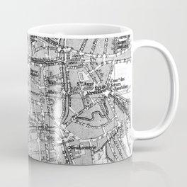 Vintage Map of Bruges (1905) BW Coffee Mug
