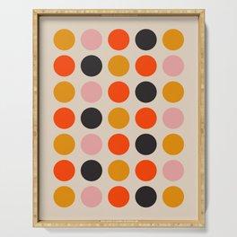 Retro Bauhaus Dots | 70s European Pattern Serving Tray