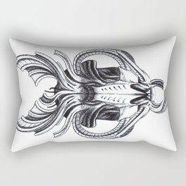biomech boar skull Rectangular Pillow