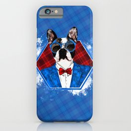 Hipster French Bulldog -Frenchie iPhone Case
