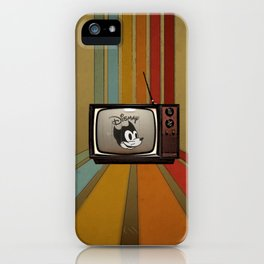 fallout Dismay cartoon on vintage tv iPhone Case