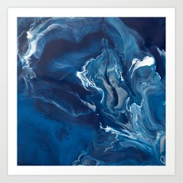 """Color Commentary #5: """"Undertow"""" (Blue & Grey) [Philip Earls] Art Print"""