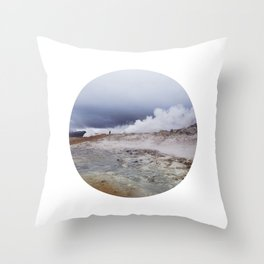 Man on the moon, Iceland Throw Pillow