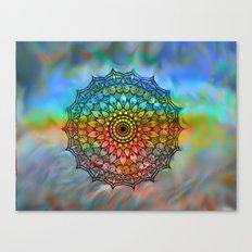 Mandala In the wind Canvas Print