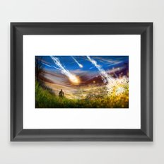 Crashing Down Framed Art Print