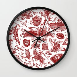 "Zelda ""Hero of Time"" Toile Pattern - Goron's Ruby Wall Clock"