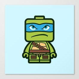 Chibi Leonardo Ninja Turtle Canvas Print