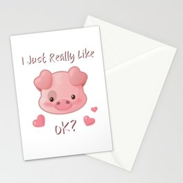 I Just Really Like Pigs, OK? Stationery Cards