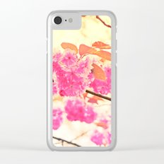 Pink Pushy Power Clear iPhone Case