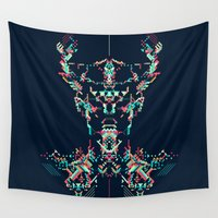 viking Wall Tapestries featuring Space Viking by Khyati Trehan