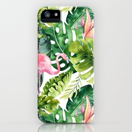 Flamingo Tropical || #pattern #tropical iPhone Case