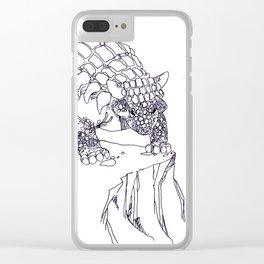 ankylosaurus Clear iPhone Case