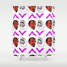 Devil in the design by Fred Gonzalez Shower Curtain