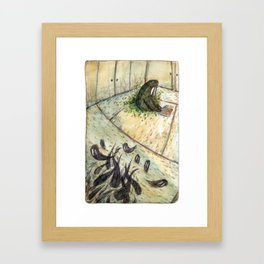Kettle and the Garden Monsters - Parsley Merlin and Beatrice Page Framed Art Print