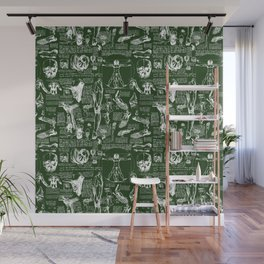 Da Vinci's Anatomy Sketchbook // Myrtle Green Wall Mural