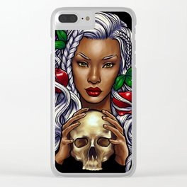 Snow White (black background) Clear iPhone Case