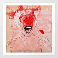 scream Art Prints featuring scream by Alvaro Tapia Hidalgo