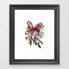 Branch of mistletoe Framed Art Print