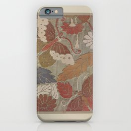 Verneuil - Japanese paper and fabric designs (1913) - 61: Butterflies and foliage iPhone Case
