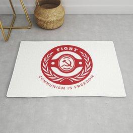 Fight Communism Freedom Red Rug