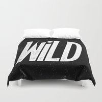 into the wild Duvet Covers featuring Wild by Josh LaFayette