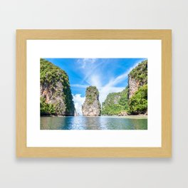 Islets in Phang Nga Bay Framed Art Print