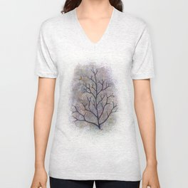 maine has trees Unisex V-Neck