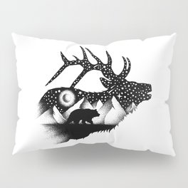 THE ELK AND THE BEAR Pillow Sham