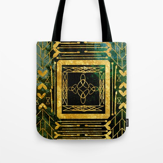 Folk Art Deco Tote Bag