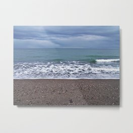 Foam on the Beach Metal Print