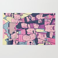 budapest Area & Throw Rugs featuring Grand Hotel by Ale Giorgini